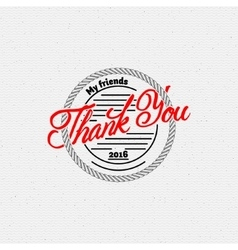 Thank you - typographic calligraphic lettering vector image
