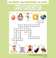The letter e crossword vector