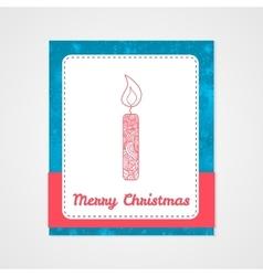 Toys on christmas tree - candle Christmas vector image