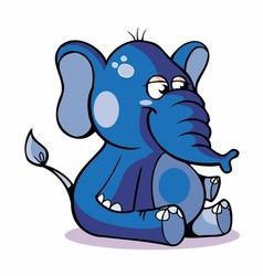 Very Cute Baby Elephant Sitting vector
