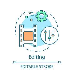Video editing concept icon vector