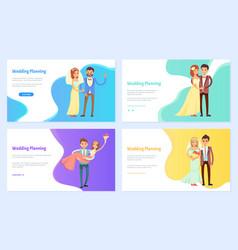 wedding planning webpage information site help vector image
