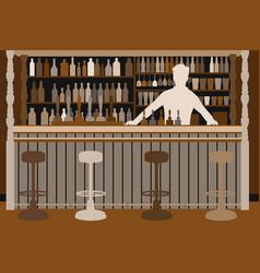 Welcoming barman vector