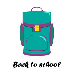 with school backpack vector image