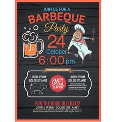 BBQ party menu vector image