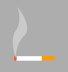 burning cigarette isolated on white vector image