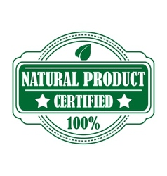 Green colored natural product label vector image vector image