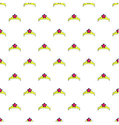 little princess crown pattern seamless vector image