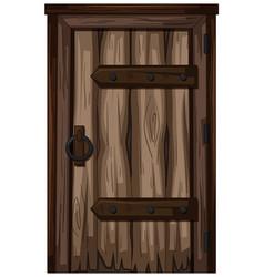 old wooden door on white background vector image vector image