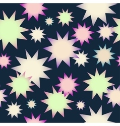 pattern with the image of stars on a vector image