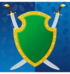 saber shield vector image