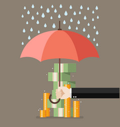 save for a rainy day vector image