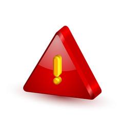 Security alert triangle symbol vector image vector image