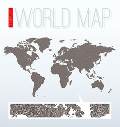 Stippled world map vector image vector image