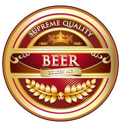 Beer Label Vintage Design vector image vector image