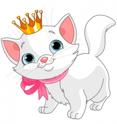 kitten princess vector image