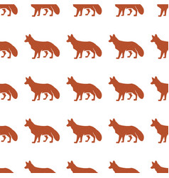 red fox seamless vector image