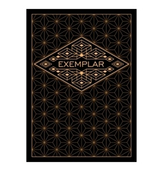 Vintage Luxury Antique Art Deco Monochrome Gold vector image