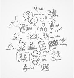 drawn business symbols vector image