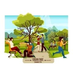 Garden Landscape Poster vector image vector image