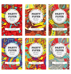 Set of Club Flyers with copy space vector image vector image