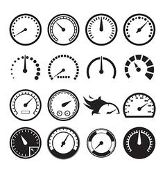Speedometer icons vector image