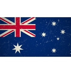 Australian flag with grunge texture vector image vector image