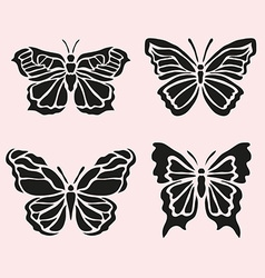 Butterfly symbols set vector
