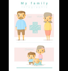 Family background and infographic 4 vector image vector image