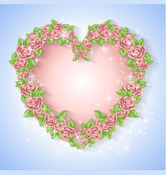 festive card for a wedding or a birthday wreath of vector image