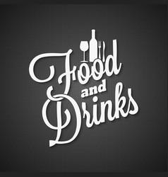 food and drink vintage lettering menu background vector image
