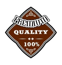 Premium Quality retro label vector image vector image