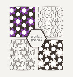 Set of abstract geometric seamless graphic hipster vector