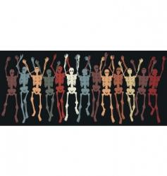 skeletons together vector image