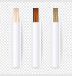 3d realistic wooden chopsticks white blank vector
