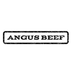 Angus beef watermark stamp vector