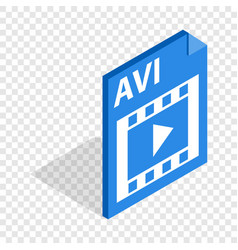 Avi file extension isometric icon vector