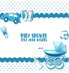 bashower invitation card template place for te vector image