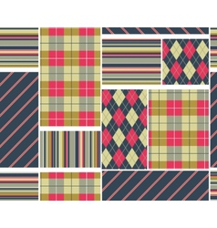 Big plaid pattern set vector image