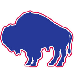 bison sports logo mascot vector image