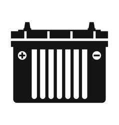 Black flat battery icon vector image