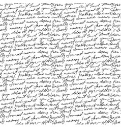 black handwritten text on white repetition vector image