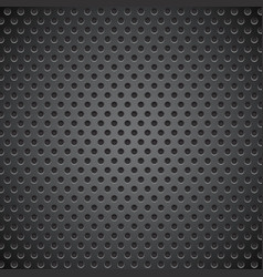 Black metal perforated background vector