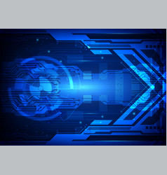 blue abstract background digital technology vector image