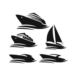 boats and ships vector image