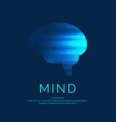 brain color silhouette vector image