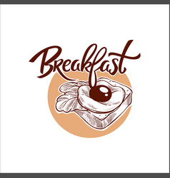 breakfast menu traditional vector image