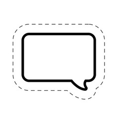 Bubble speech square cut line vector