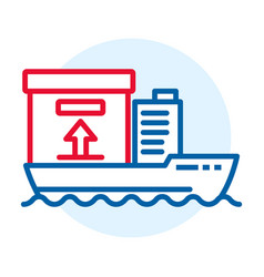 cargo ship delivery icon outline style vector image