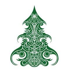 Christmas Tree Decorative vector